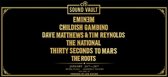 Eminem, Dave Matthews among Citi Sound Vault concerts |