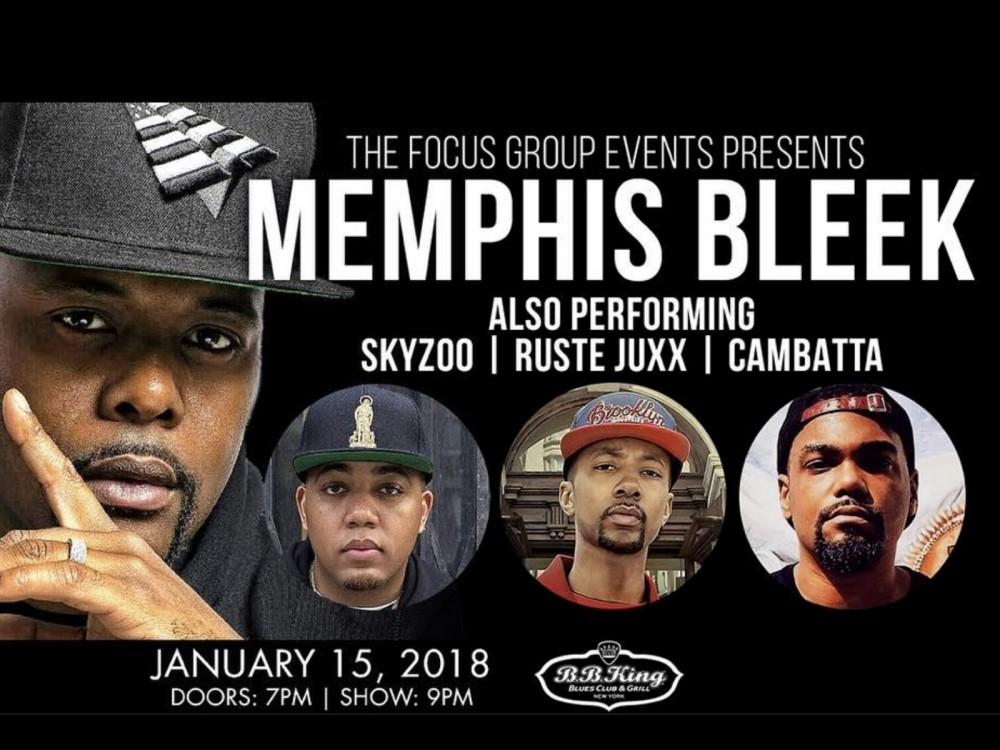 "Memphis Bleek's B.B. King Blues Club & Grill Show: ""Witness Something That's Still So Raw & Hip-Hop"" –"