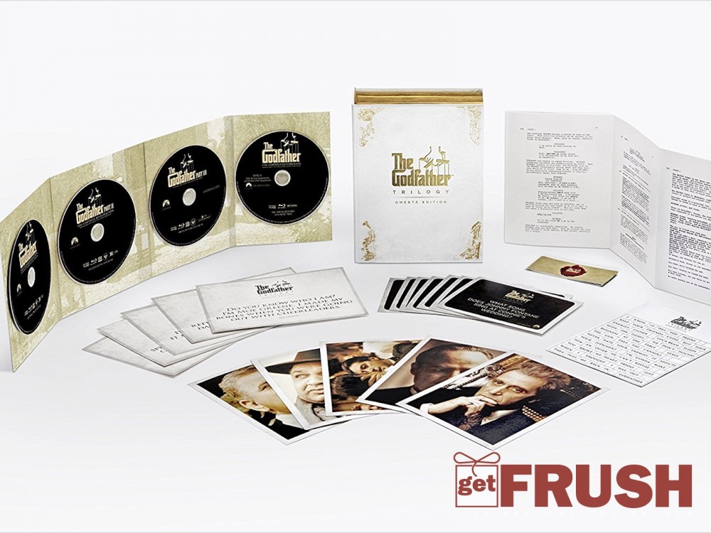 """The Godfather Trilogy: Omerta Edition On Blu-ray: """"Trivia Cards, Magnetic Poetry, Quote Cards & More!"""" –"""