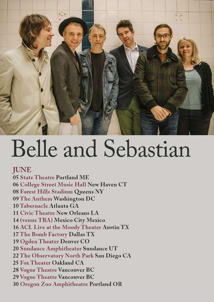 Belle and Sebastian Plot 2018 North American Tour