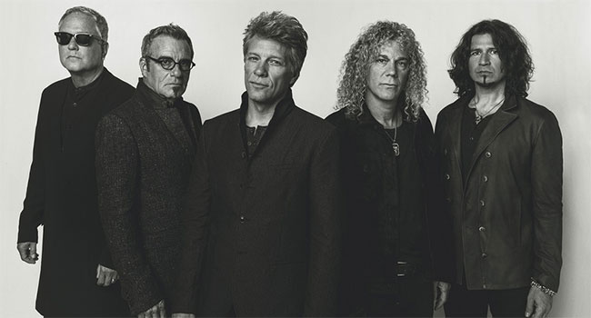 Bon Jovi performing at 2018 iHeartRadio Music Awards |
