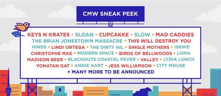CMW Adds Sloan, Cupcakke, the Brian Jonestown Massacre to 2018 Lineup