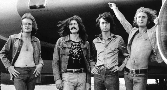 Led Zeppelin official illustrated book detailed |