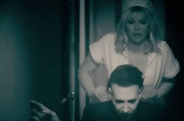 "Marilyn Manson Unveils ""Tattooed in Reverse"" Video Starring Courtney Love"