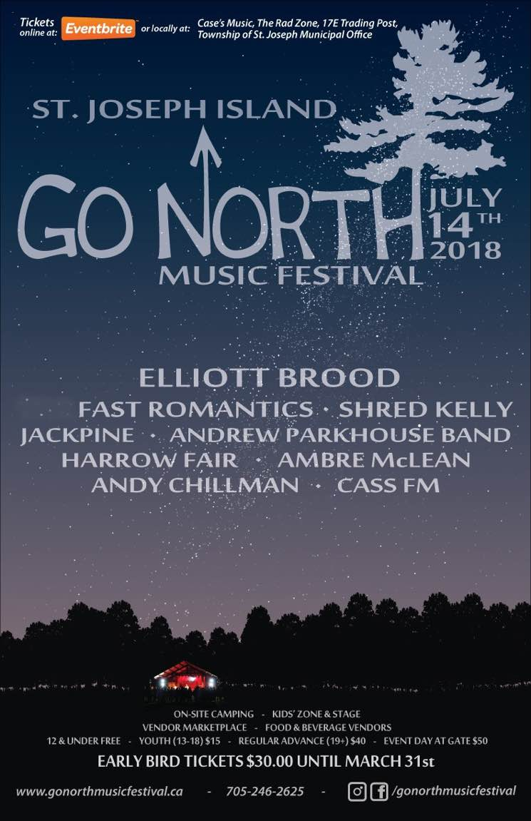 ​Go North Music Festival Gets Elliott Brood, Fast Romantics, Shred Kelly for 2018 Lineup