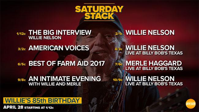AXS TV celebrating Willie Nelson's birthday  