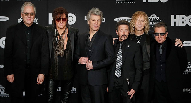 Bon Jovi reunites with Richie Sambora, Alec John Such at Rock Hall Induction |