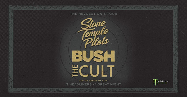 Stone Temple Pilots, Bush, The Cult announce Revolution 3 Tour |