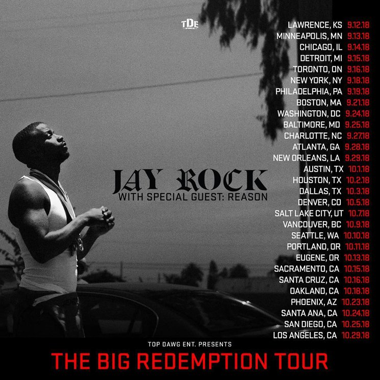 "Jay Rock Maps Out ""The Big Redemption Tour"""