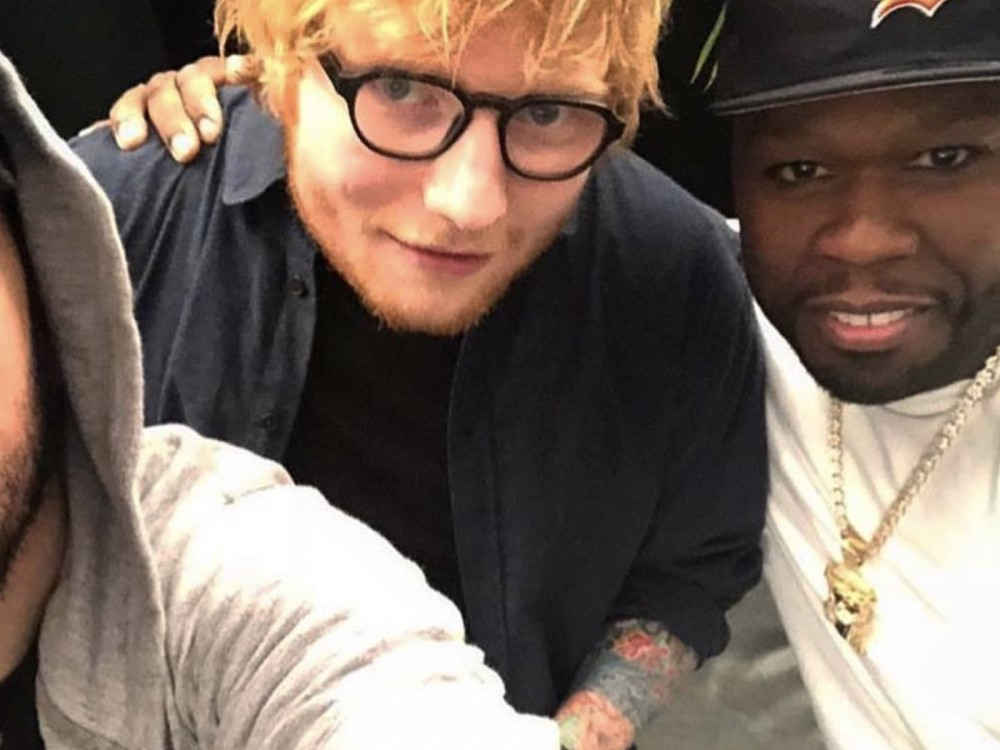 50 Cent Catches Some Vibes W/ Ed Sheeran & Eminem Horribly Captures Them –