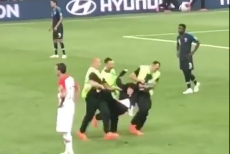 Pussy Riot Stormed the Field During the World Cup Final