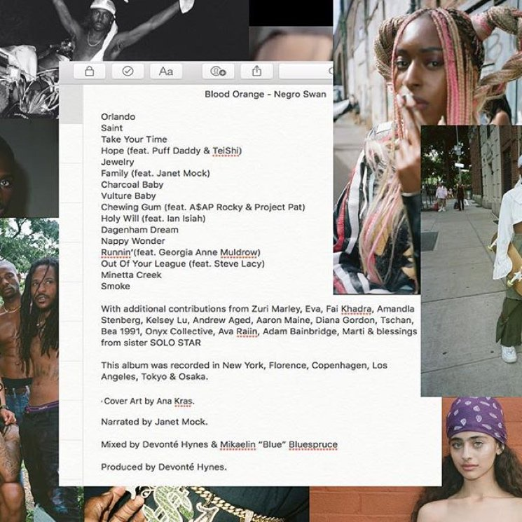 Blood Orange Reveals 'Negro Swan' Tracklist, Featuring Puff Daddy, A$AP Rocky