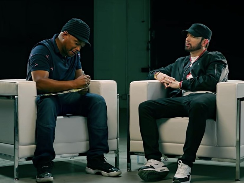 "Eminem Tells Sway Calloway Why He Surprise-Dropped ""Kamikaze"""
