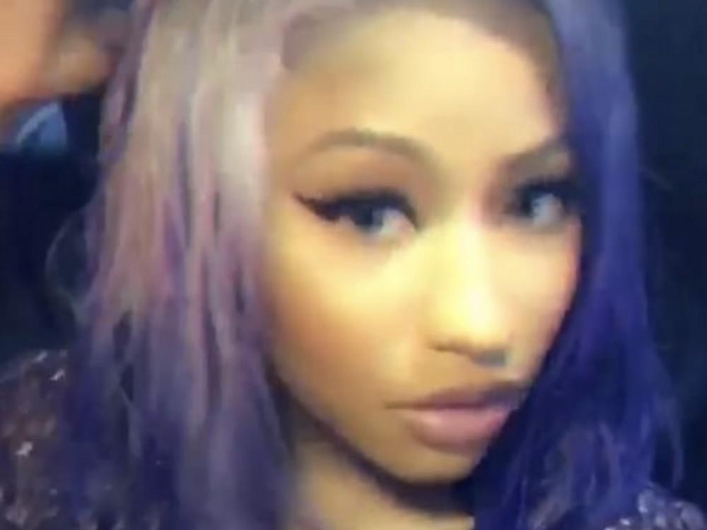 Nicki Minaj 100 Percent Slays NY Fashion Week W/ Winnie Harlow In All-Purple Everything Hair –