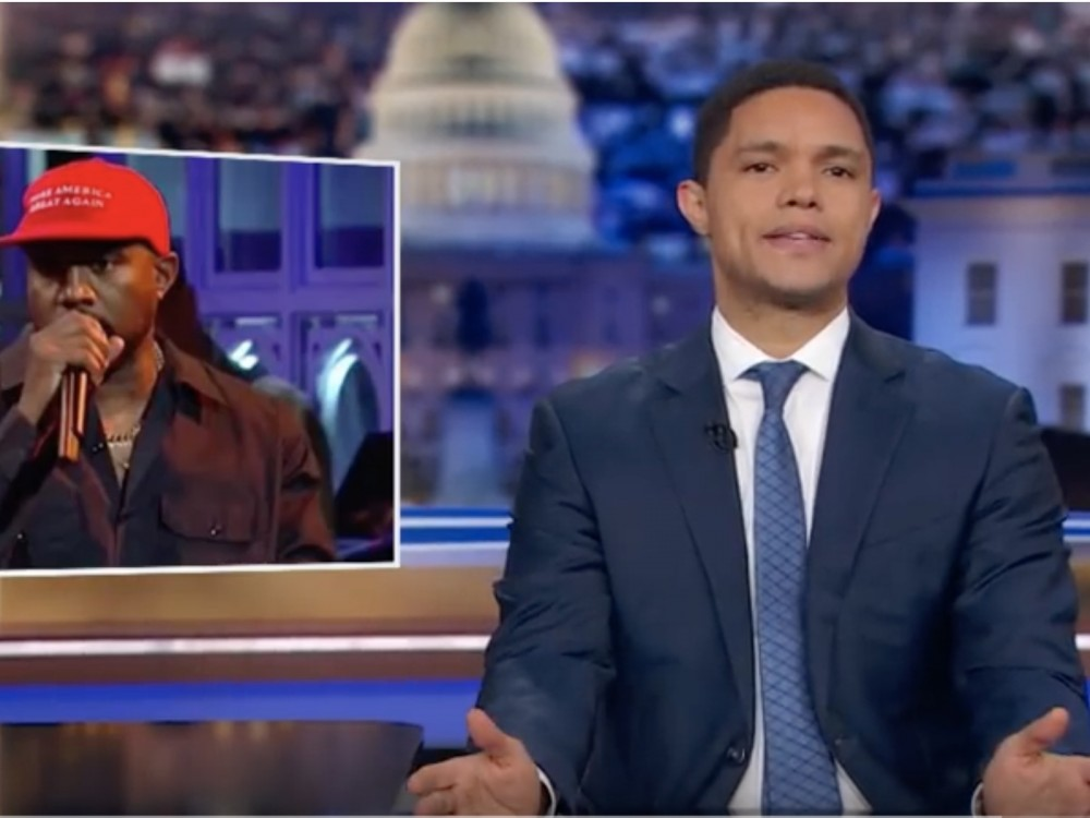 Watch: Daily Show Host Trevor Noah Reacts To Kanye West/Taylor Swift Picking Political Sides & Dissects White House Visit –