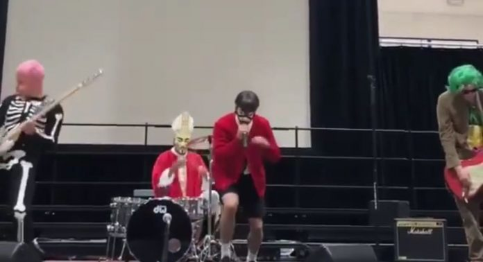 Watch-Red-Hot-Chili-Peppers-Play-At-School-Assembly-On-Halloween