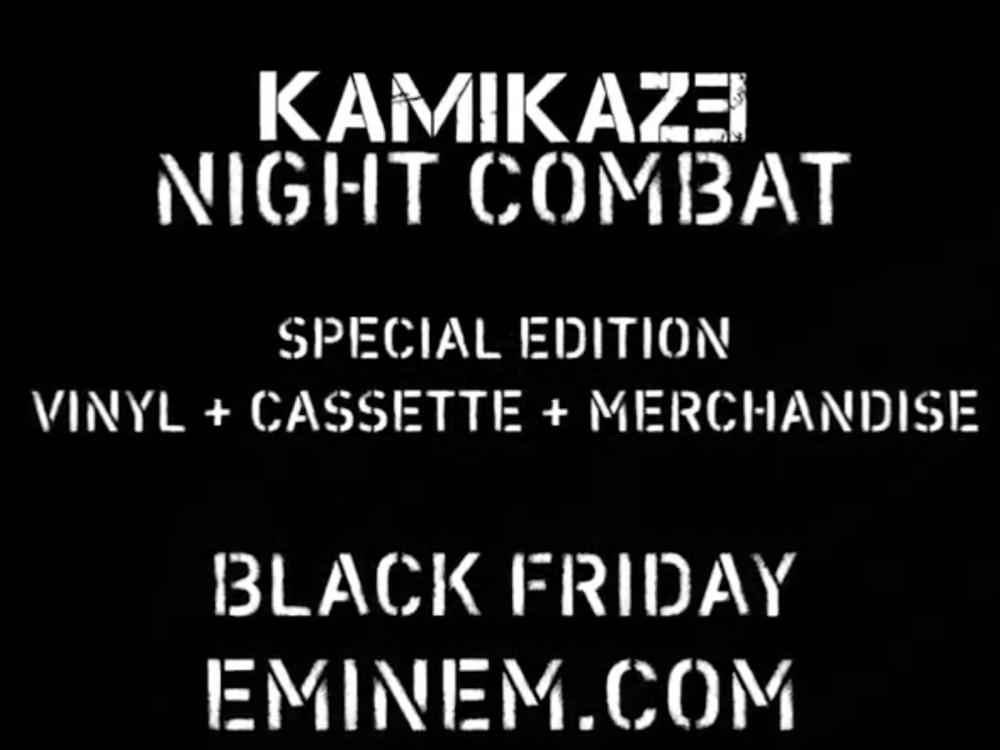 Eminem Announces Kamikaze Night Combat Release For Black Friday –