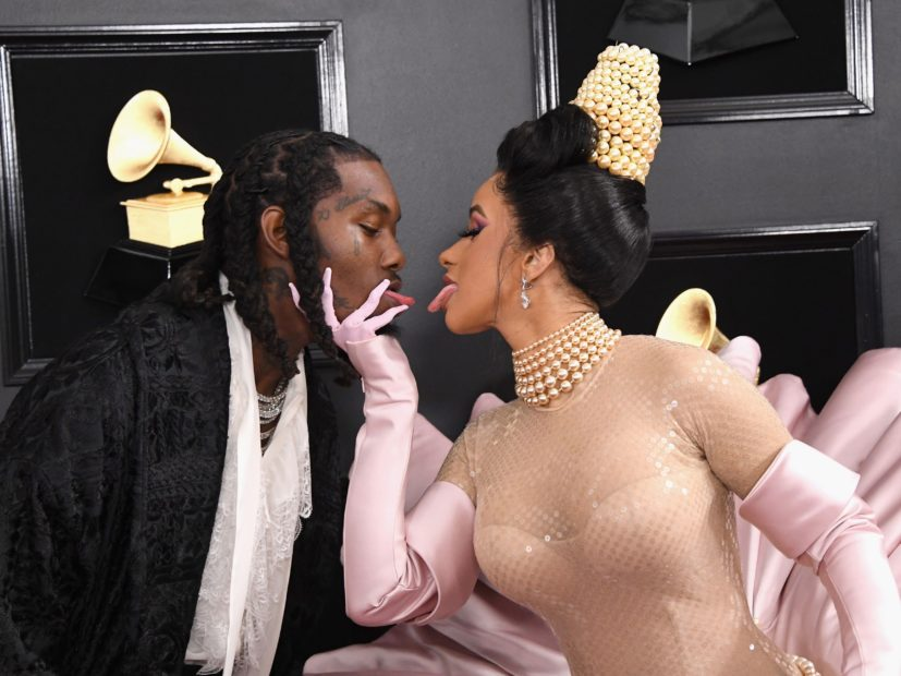 Cardi B & Offset Swap Spit At 2019 Grammy Awards