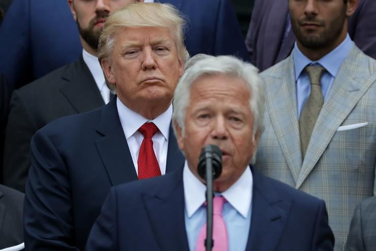 """Donald Trump Says Robert Kraft's Soliciting Prostitution Charges Are """"Very Sad"""""""