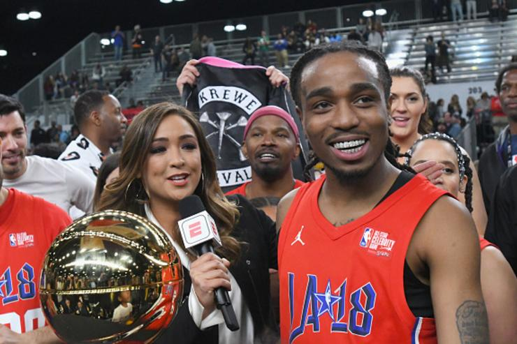 Quavo Dominates Pickup Game Ahead Of Celebrity All Star Game: Video