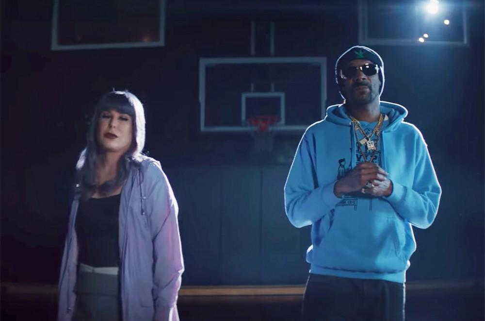 Snoop Dogg & Rising Pop Singer Layke Shoot Hoops in Their 'Happier' Cover  Exclusive