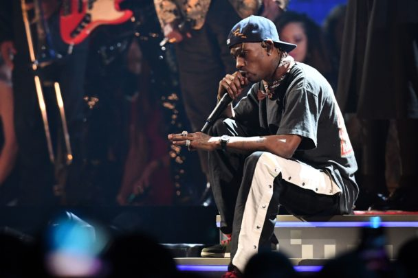 Travis Scott Performs With Philip Bailey & James Blake At The 2019 Grammys: Watch