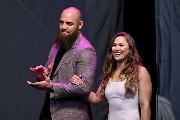 Ronda Rousey's Husband Travis Browne KO's Security During WWE Segment