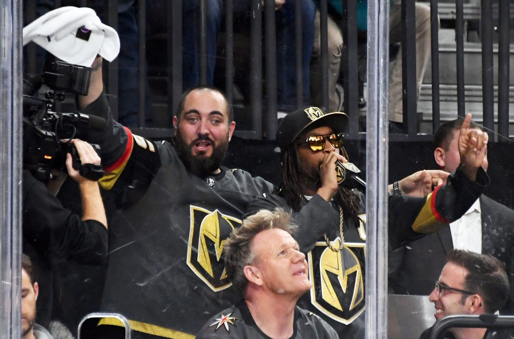Lil Jon Hangs With Gordon Ramsay at Vegas Golden Knights Playoff Game