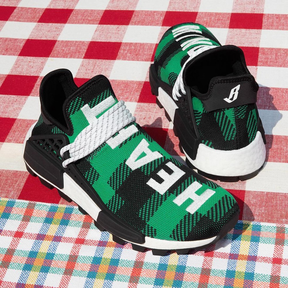size 40 df3ca 2a25b Pharrell Adidas NMD Hu X BBC Releasing In Plaid Colors This ...