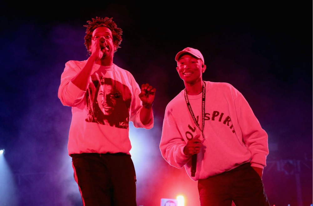 Pharrell Wears Kanye West's Sunday Service Coachella Merch