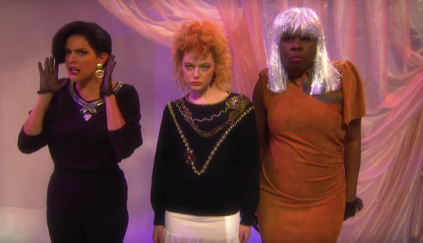 SNL Ladies Room Sketch Parodies A Klymaxx Video From 1984: Watch