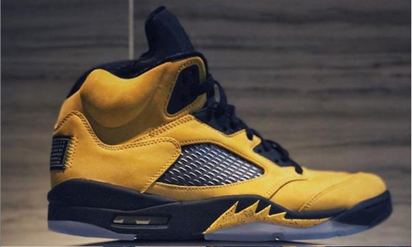 "Air Jordan 5 ""Michigan"" Dropping This Summer: First Look"