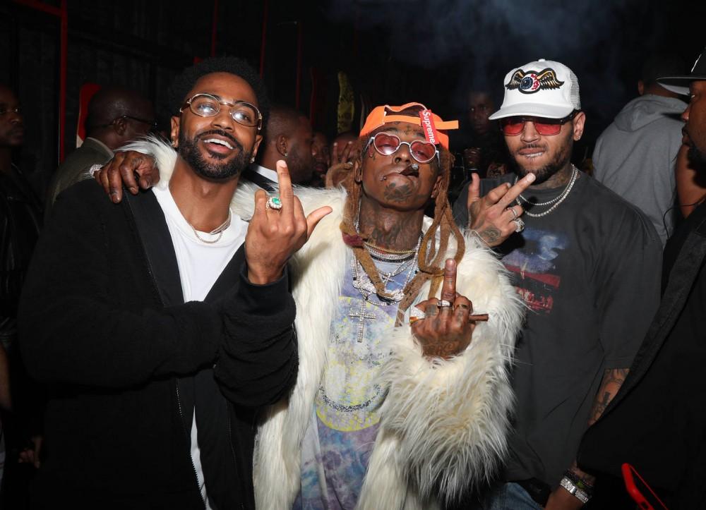 "Lil Wayne & Big Sean Go ""Bar-For-Bar"" In Studio After DJ Khaled Session"