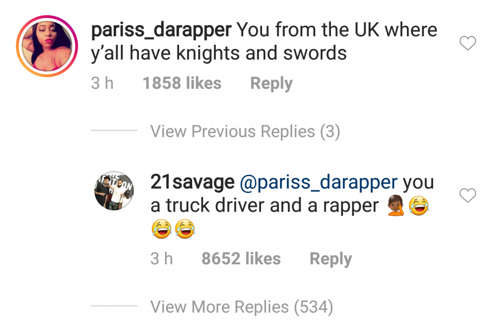 21 Savage Claps Back At Troll Who Claims He's Not Actually From Atlanta