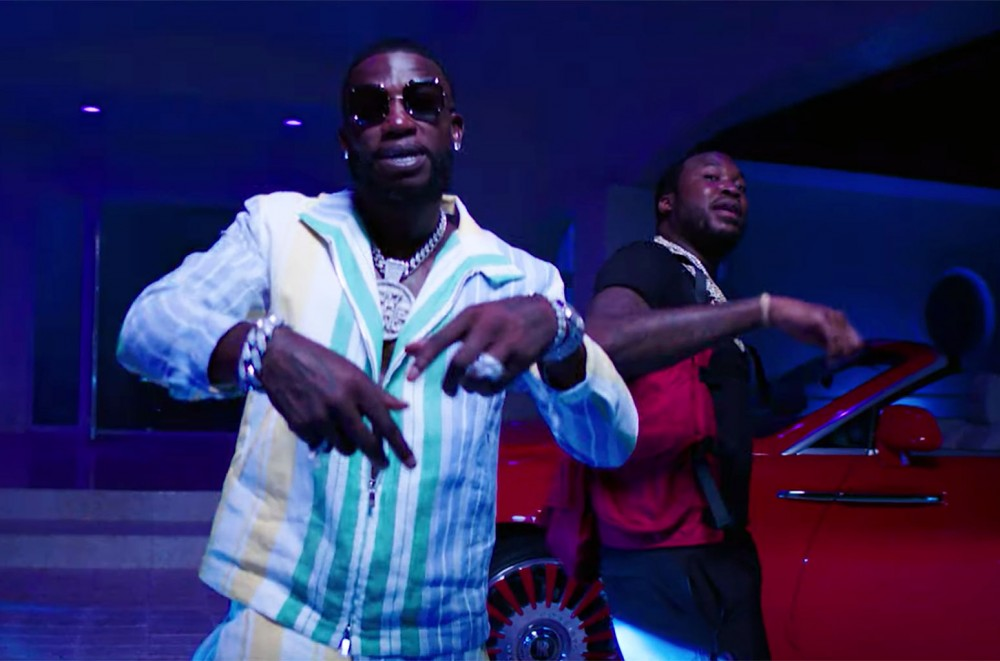 Gucci Mane & Meek Mill Throw an Epic House Party in Wet-N-Wild 'Backwards'  Watch