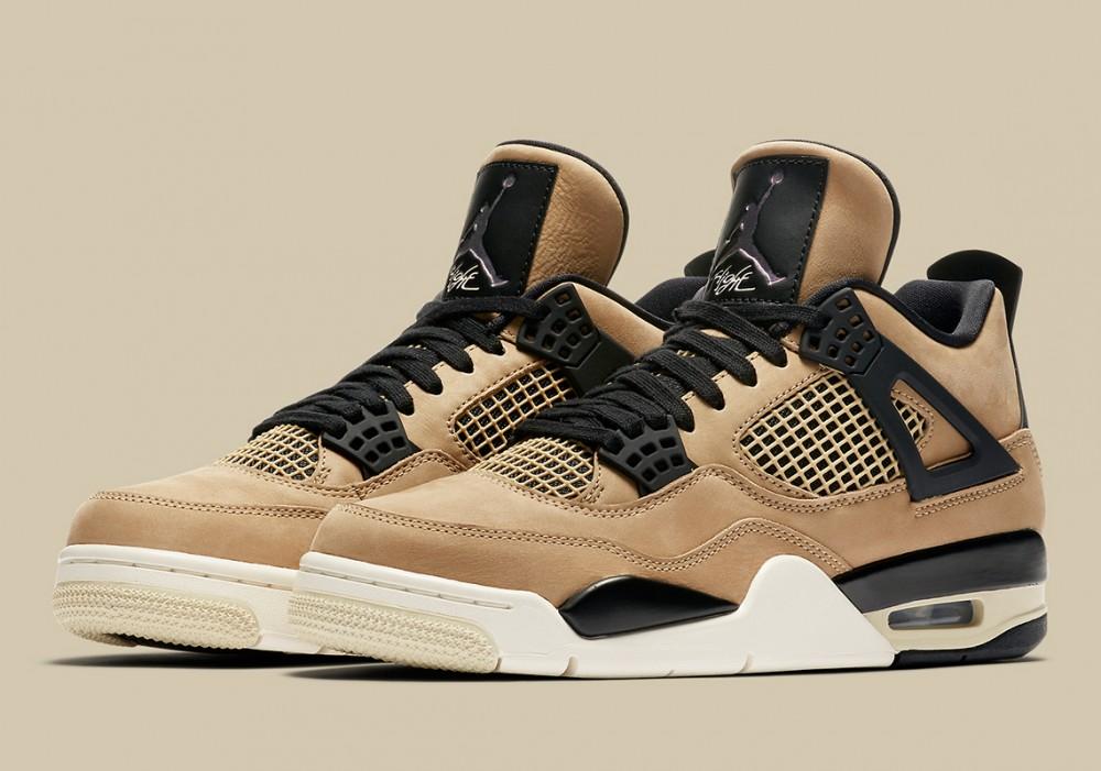 "Air Jordan 4 ""Mushroom"" Release Date Confirmed: Official Photos"