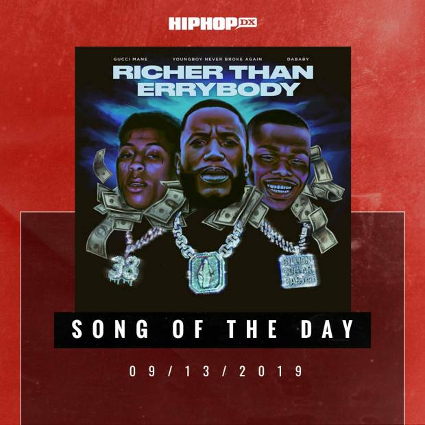 """Gucci Mane Returns With """"Richer Than Errybody"""" Featuring NBA YoungBoy & DaBaby"""