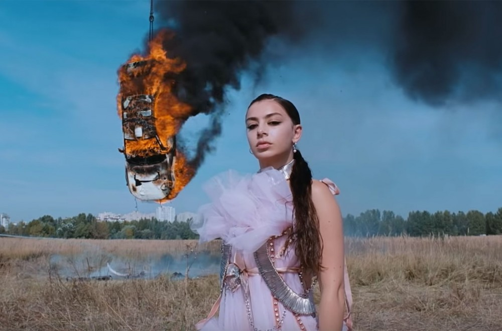 Charli XCX Burns It Down in 'White Mercedes' Video