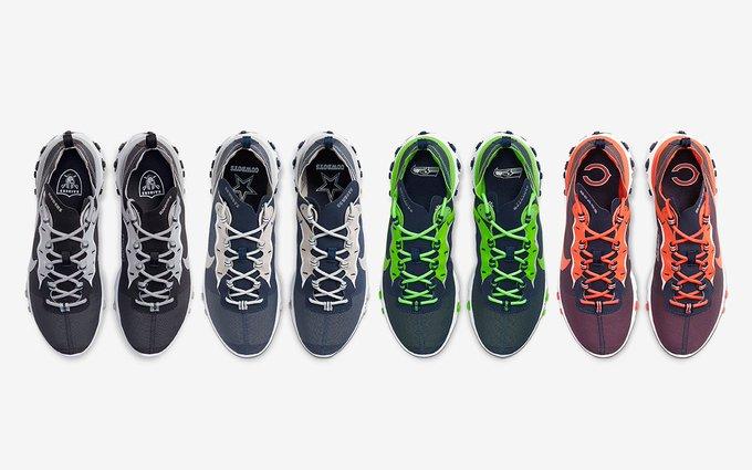 Nike React Element 55 Releasing In 12 NFL Team-Inspired Colorways