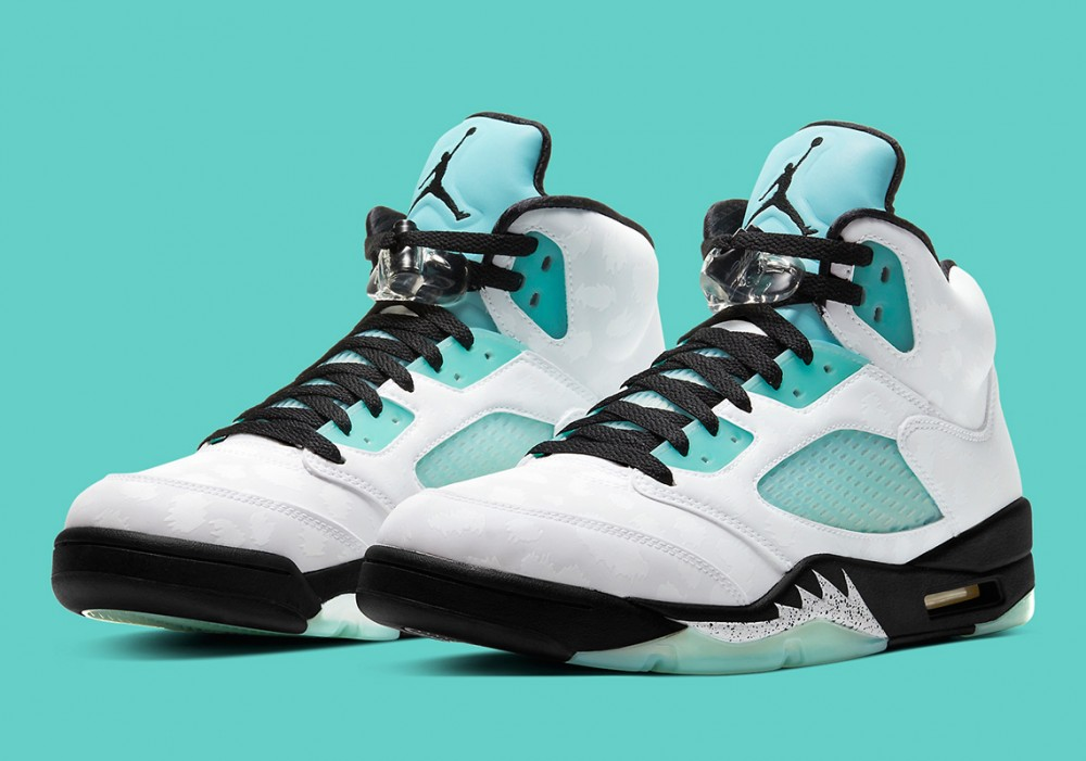 "Air Jordan 5 ""Island Green"" Drops Today: Purchase Links"