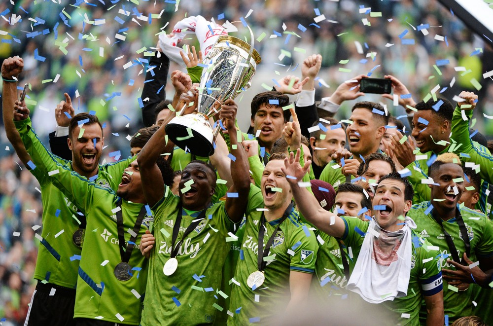 Ciara, Russell Wilson and Macklemore Hoist the Trophy After Seattle Sounders' MLS Championship: See Pics