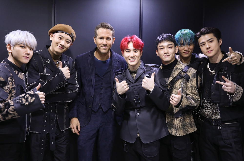 Ryan Reynolds Is 'Serious' About Being in EXO: See the Group Pics