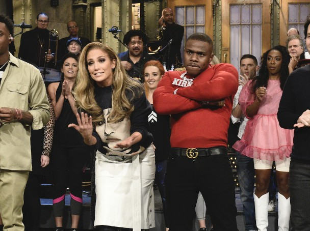 Watch J.Lo Host, DaBaby Perform On 'SNL'