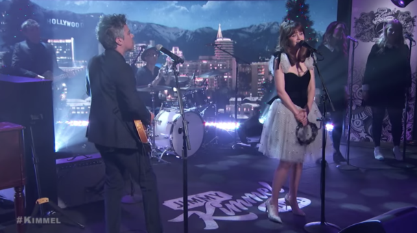 """Watch She & Him Play """"Christmas Day"""" On 'Kimmel'"""