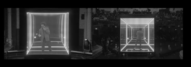 "Watch The Weeknd Sing ""Blinding Lights"" On Colbert"