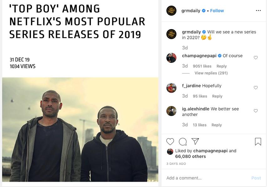 "Drake Finally Confirms Netflix ""Top Boy"" Season 4 Will Arrive In 2020"