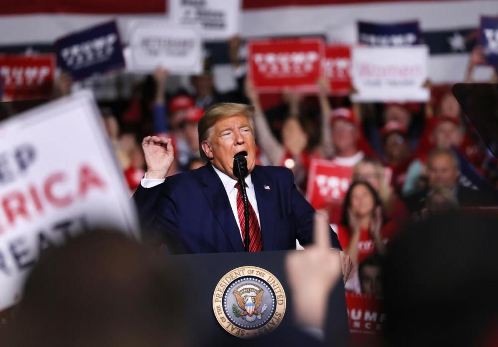 """Trump Calls Coronavirus """"Hysteria"""" The Democrats' """"New Hoax"""""""