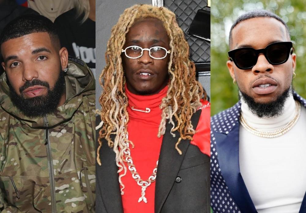 Drake & Young Thug Tell Tory Lanez How They're Staying Coronavirus-Free