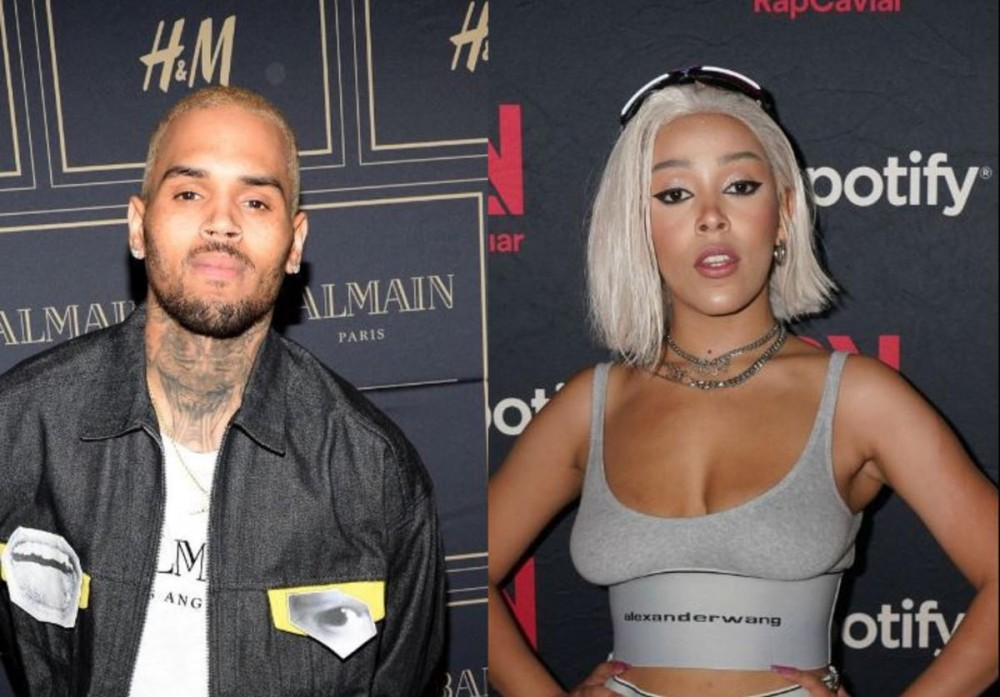 Chris Brown Hops In Tory Lanez IG Live Comments Asking For Doja Cat