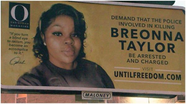 Breonna Taylor's Billboard in Louisville Was Vandalized